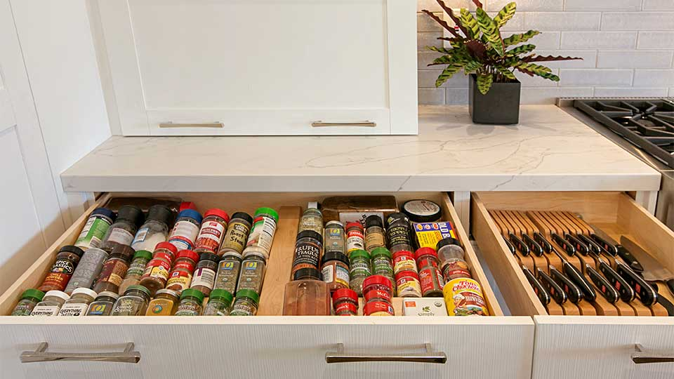 Modern_Farmhouse_Cabinets_-_Kitchen_Drawer_Spice_Storage_Close-Up